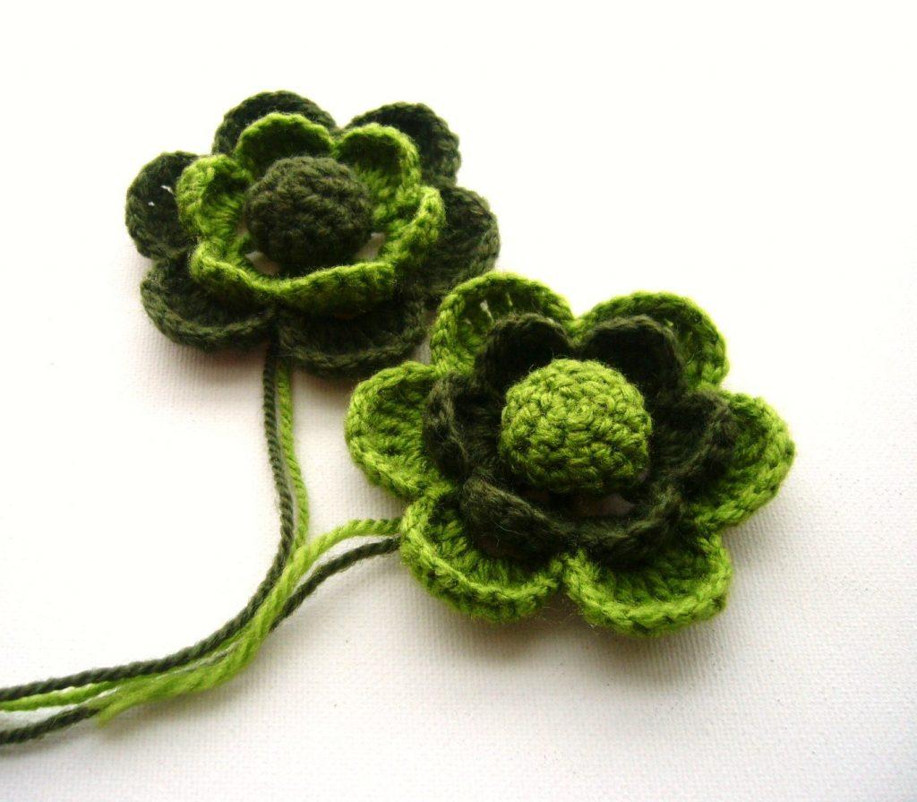 Вязание крючком украшения цветочки
