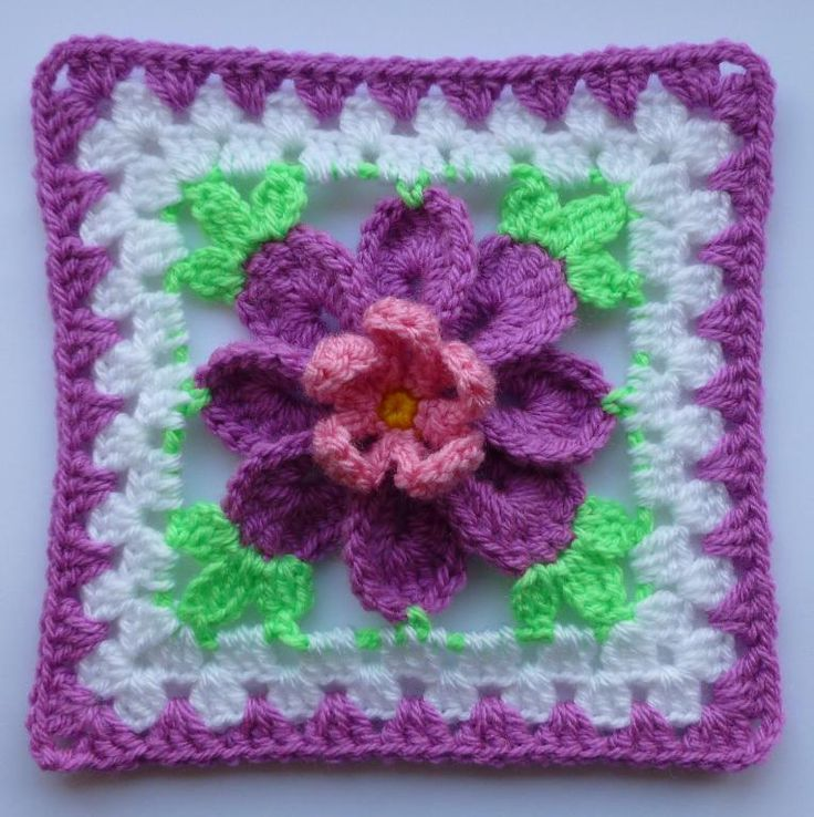 Crochet Patterns Squares : Top 10 Crochet Flower Patterns - Top Inspired
