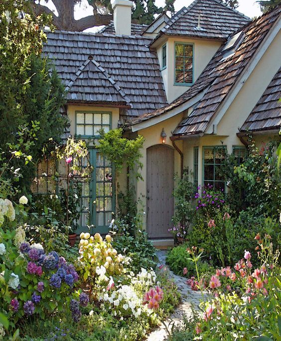 Cottage-surrounded-by-Flowers