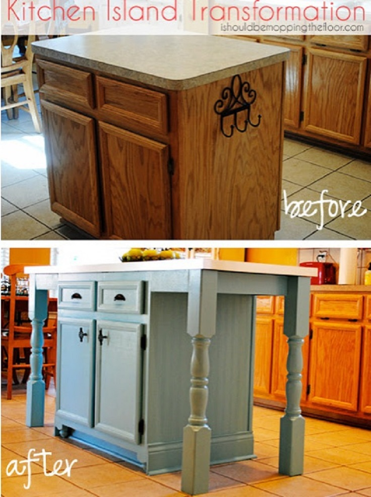 Top 10 diy kitchen islands top inspired - Kitchen diy ideas ...
