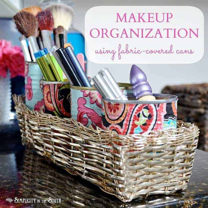 Organize-your-makeup-using-fabric-covered-cans.1