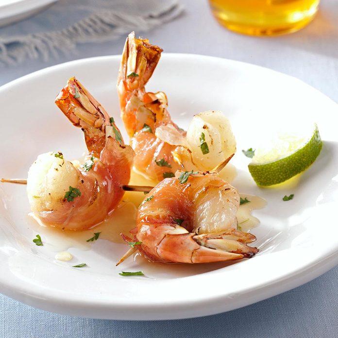Pancetta-Wrapped-Shrimp-with-Honey-Lime-Glaze