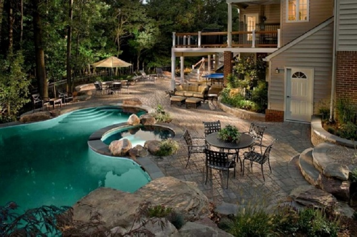 Large Backyard Pool Ideas : TOP 10 Most beautiful backyards in USA  Top Inspired