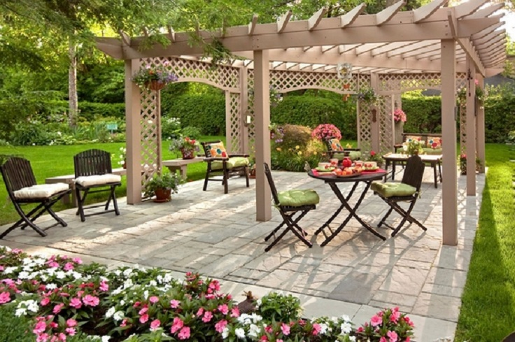 Top 10 most beautiful backyards in usa top inspired for Back garden simple designs