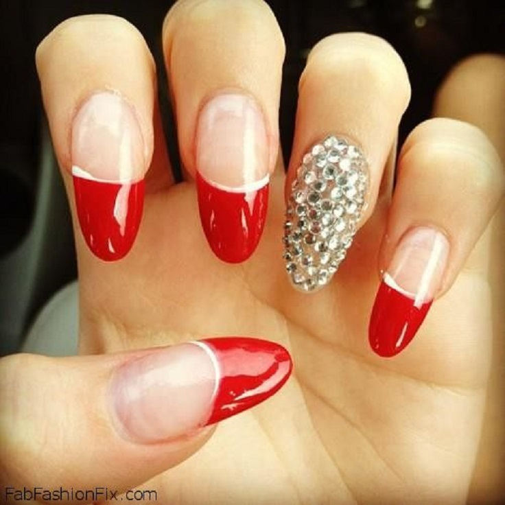 10 Attractive Red Nail Designs 2015  UK Fashion Design