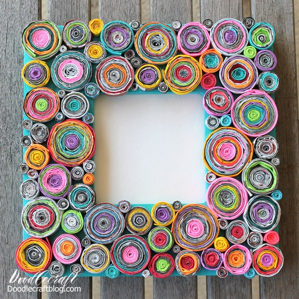 rolled-paper-upcycled-frame-diy-with-junk-mail-