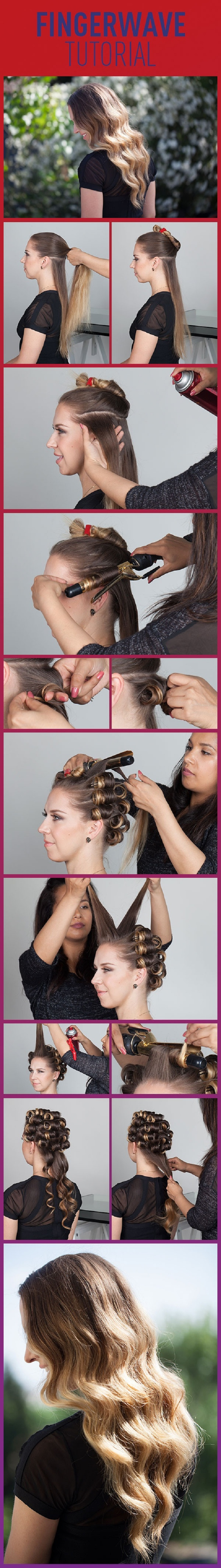How To Finger Wave hairstyles tutorial