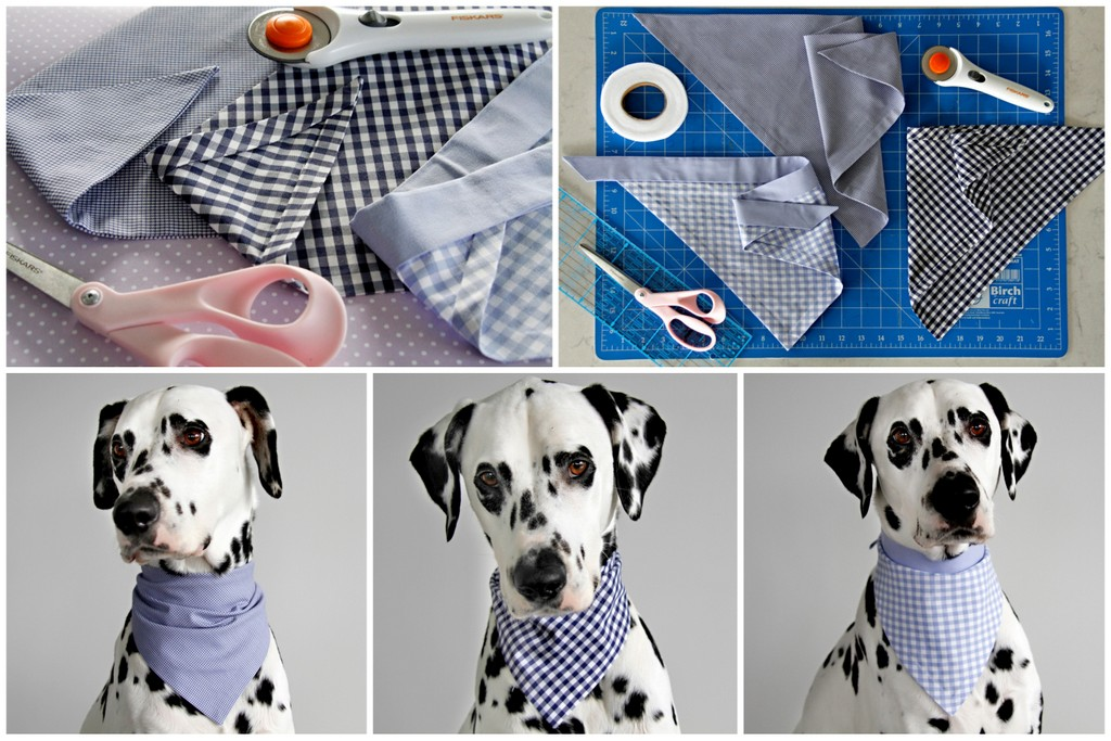 No-Sew-DIY-Dog-Bandanas-with-Cheat-Finished-Edges-Three-Different-Styles
