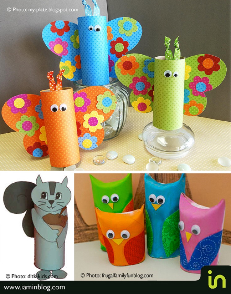 Top 10 best crafts for kids top inspired for Paper roll arts and crafts