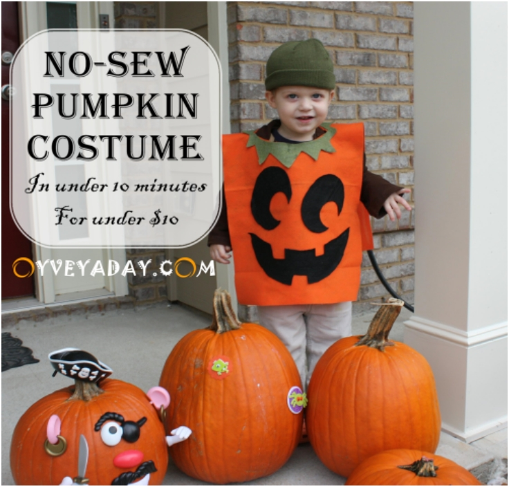 DIY-Halloween-No-Sew-Pumpkin-Costume