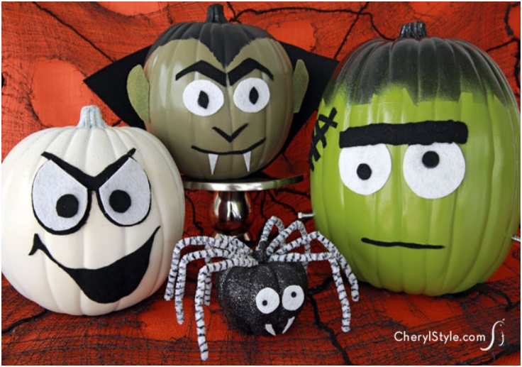Top 10 Halloween Pumpkins Without Carving