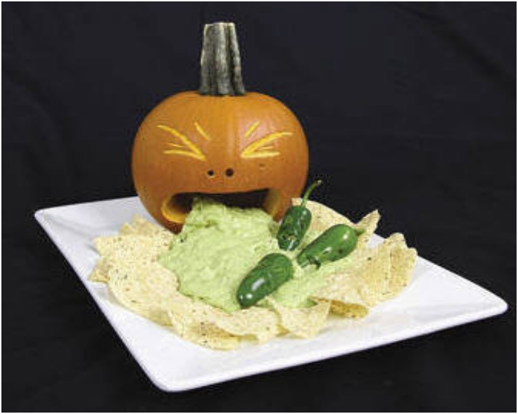 Halloween-pumpkin-vomiting-guacamole