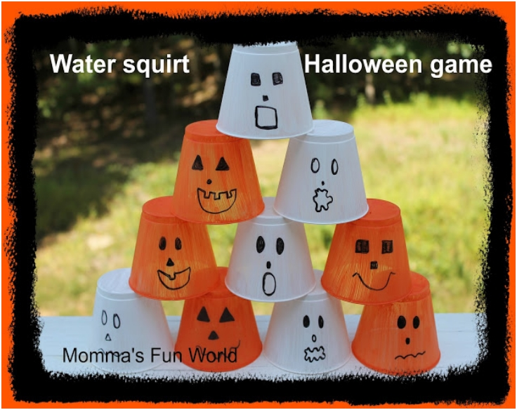 Halloween stack count and squirt game