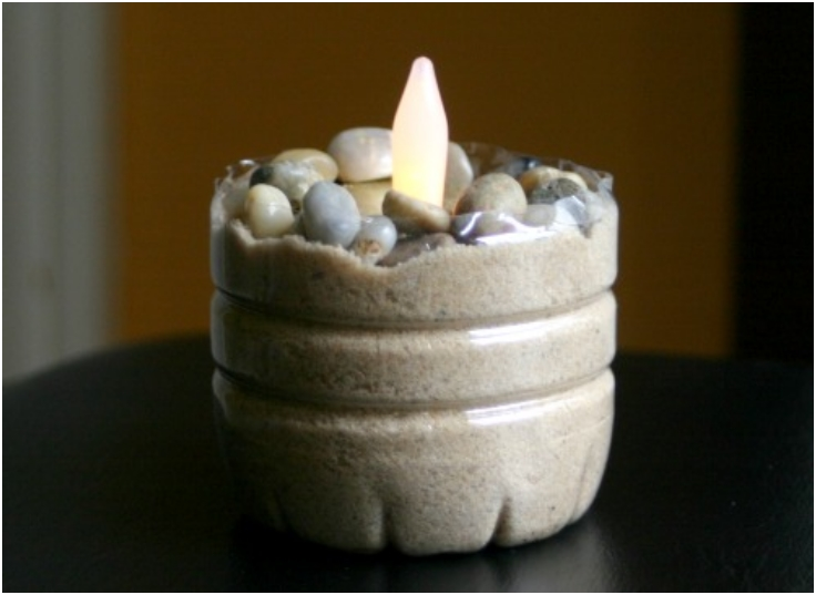 How ToWater Bottle Candle Holder
