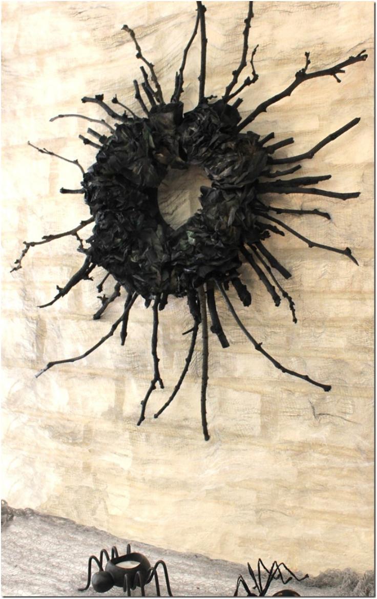 Spooky-Halloween-Stick-Wreath
