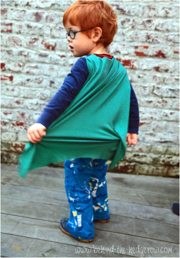Upcycled-Superhero-T-shirt-Cape