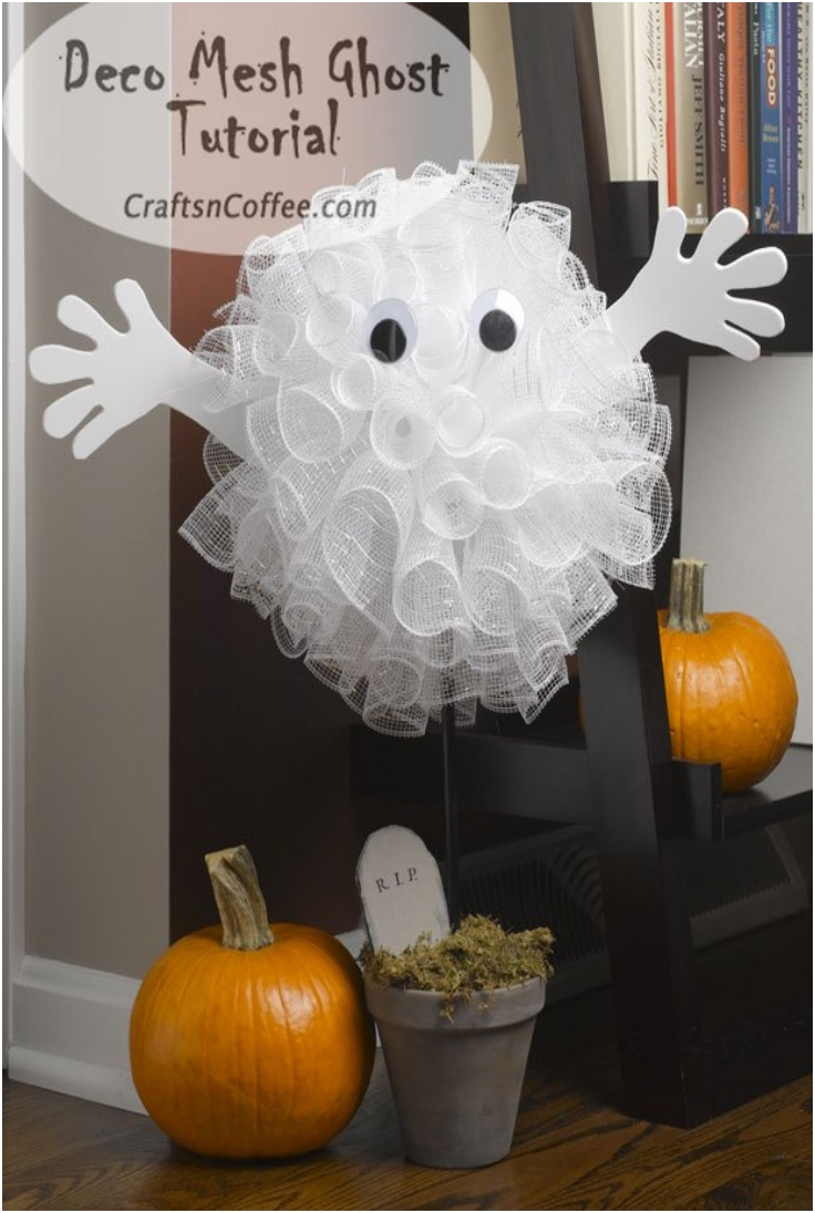 top 10 diy halloween topiaries top inspired. Black Bedroom Furniture Sets. Home Design Ideas
