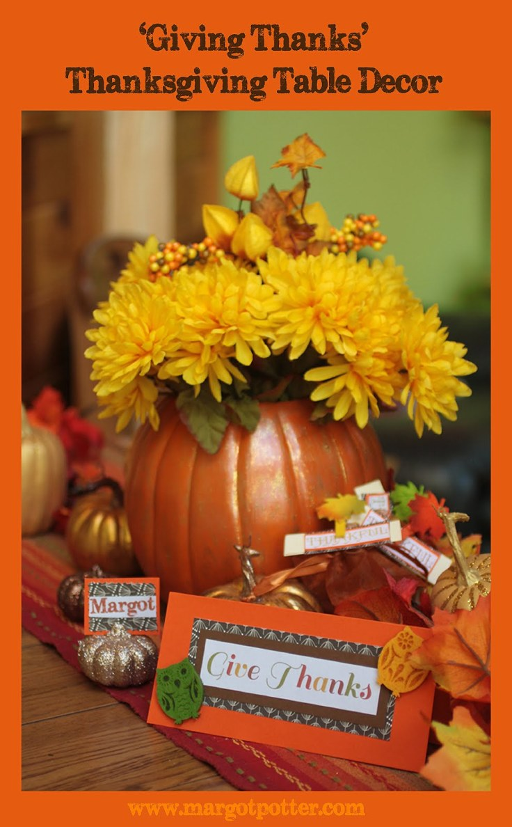 Thanksgiving table top decoration ideas photograph
