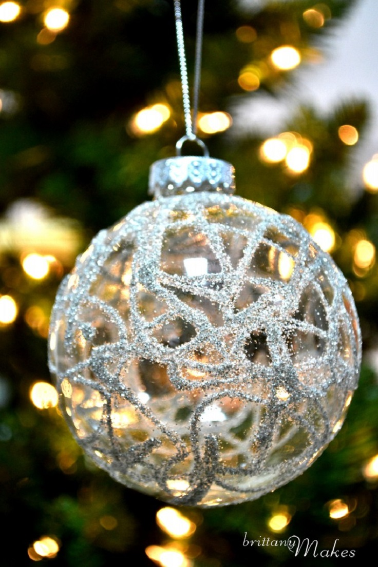 Glass globe ornaments - Glass Glitter Ornaments