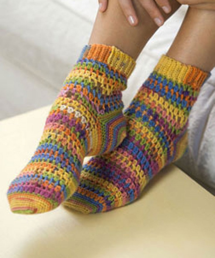 Free Crochet Patterns Socks : TOP 10 DIY Sock Knitting Patterns