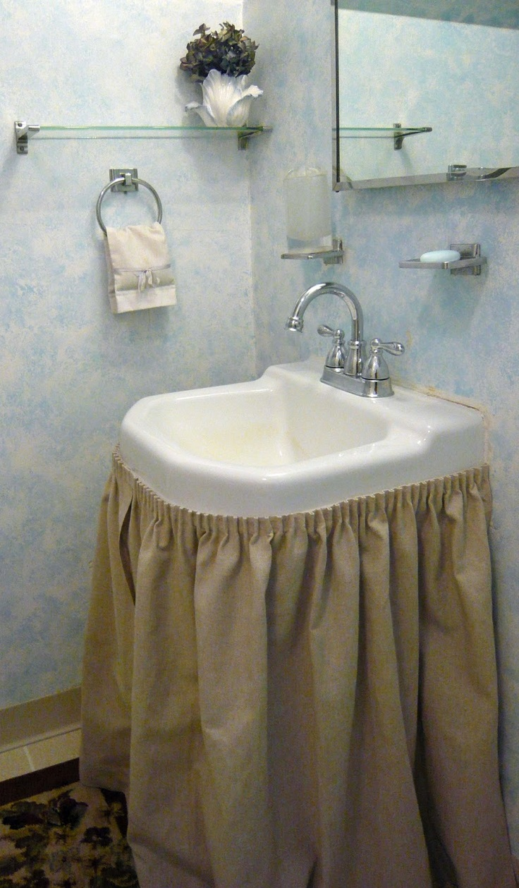 bathroom sink curtains top 10 easy diy sink skirts 11318