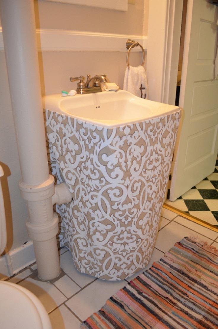 Merveilleux Top 10 Easy Diy Sink Skirts_05
