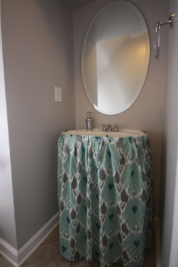 Mini Bathroom Redo / Sink Skirt Reveal