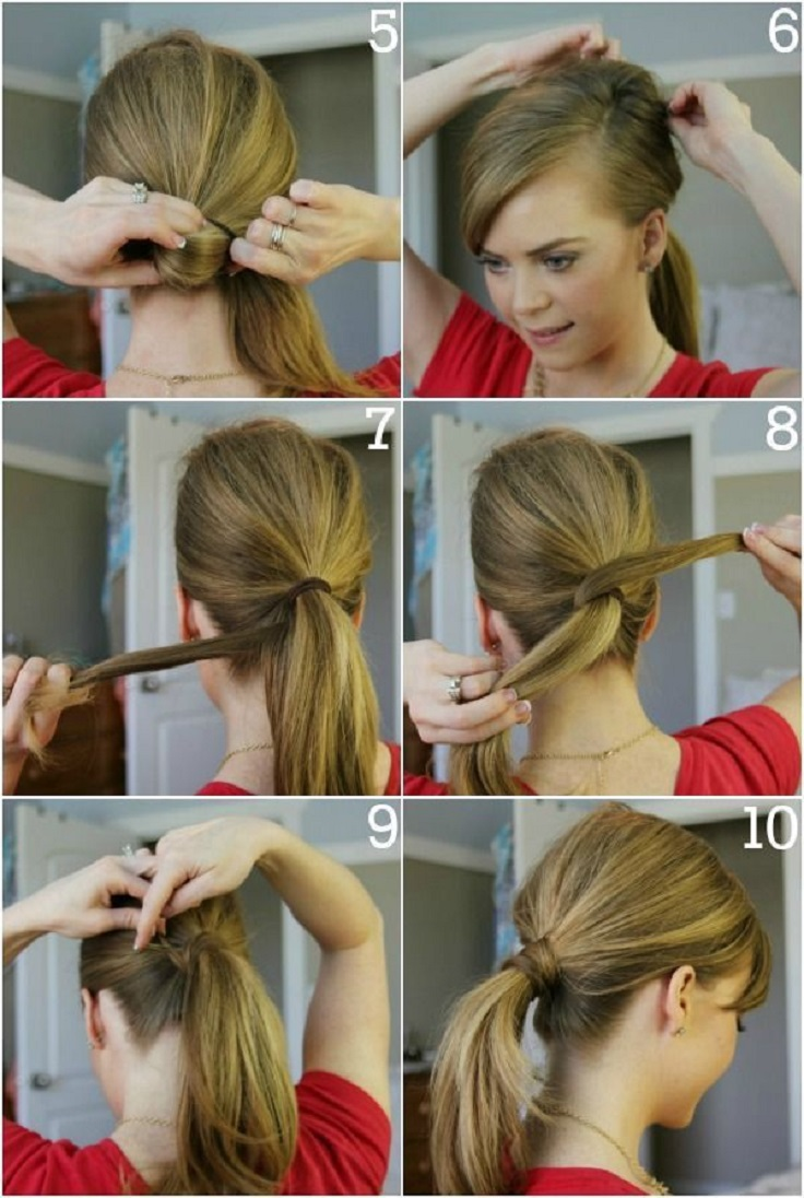 easy way to style hair top 10 fashionable ponytail tutorials top inspired 4166