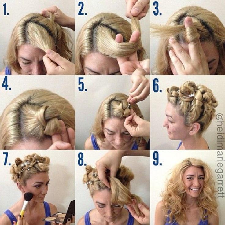 Surprising Top 10 Diy No Heat Curls Top Inspired Short Hairstyles Gunalazisus