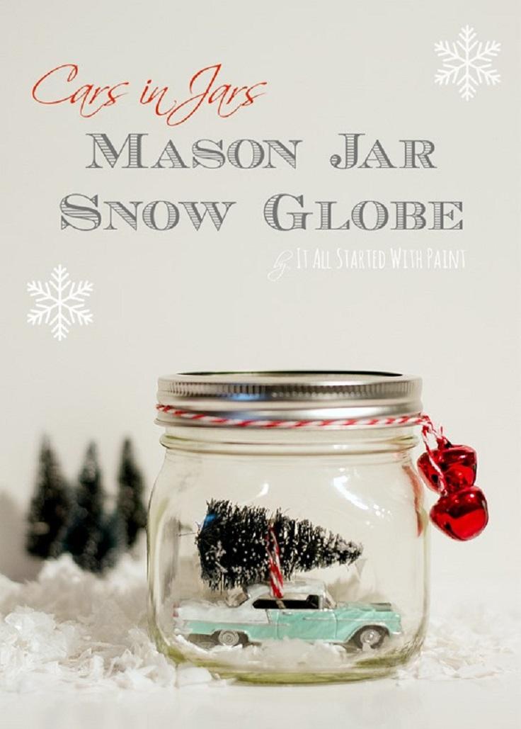 Top 10 DIY Christmas Snow Globes