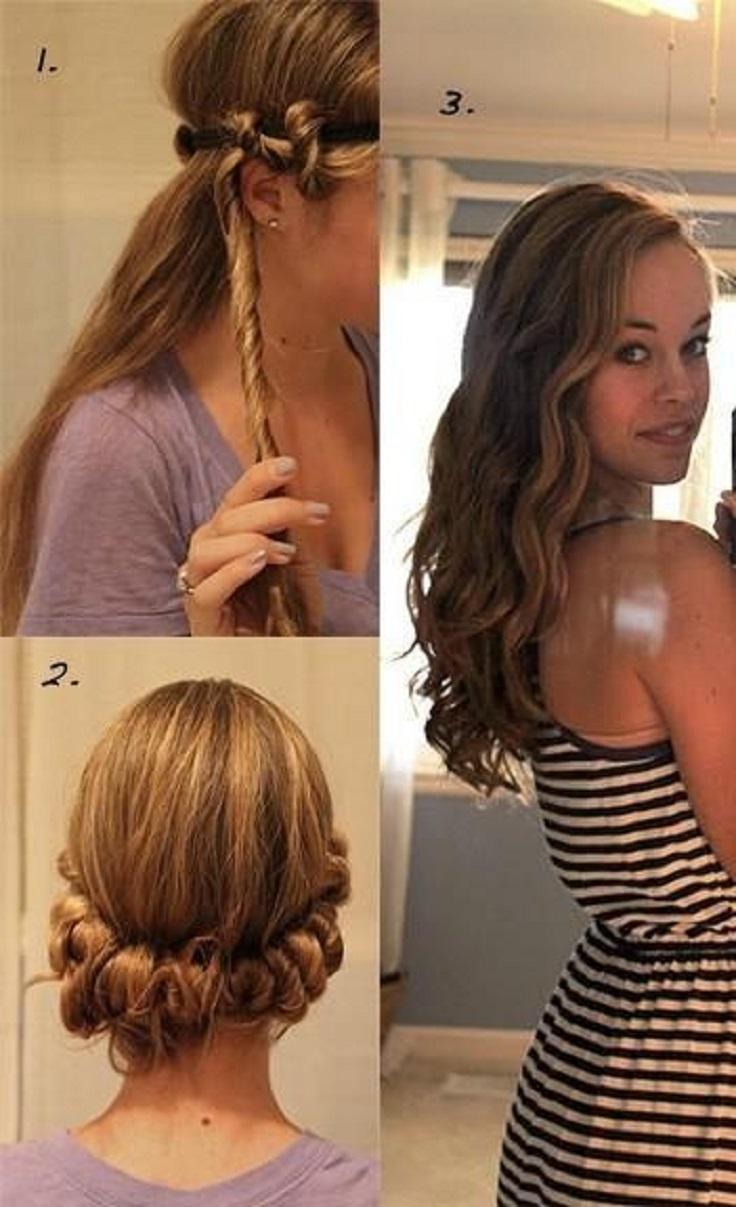 Excellent Top 10 Diy No Heat Curls Top Inspired Short Hairstyles Gunalazisus