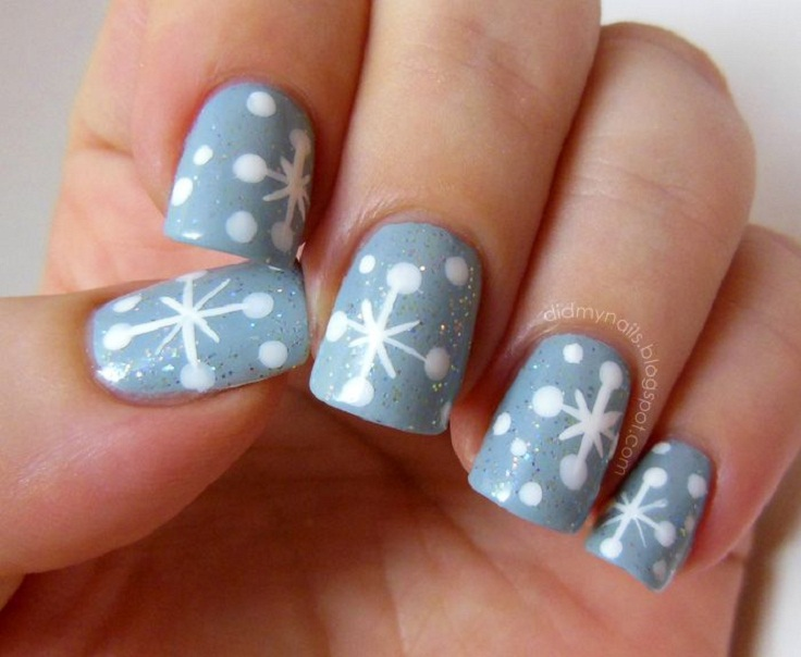 top 10 diy winter nail art tutorials top inspired. Black Bedroom Furniture Sets. Home Design Ideas