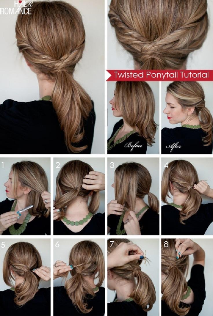 Fashion week Stylish simple ponytails for lady
