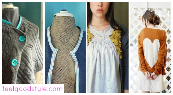 4 Ways to Refashion an Old Cardigan for Fall