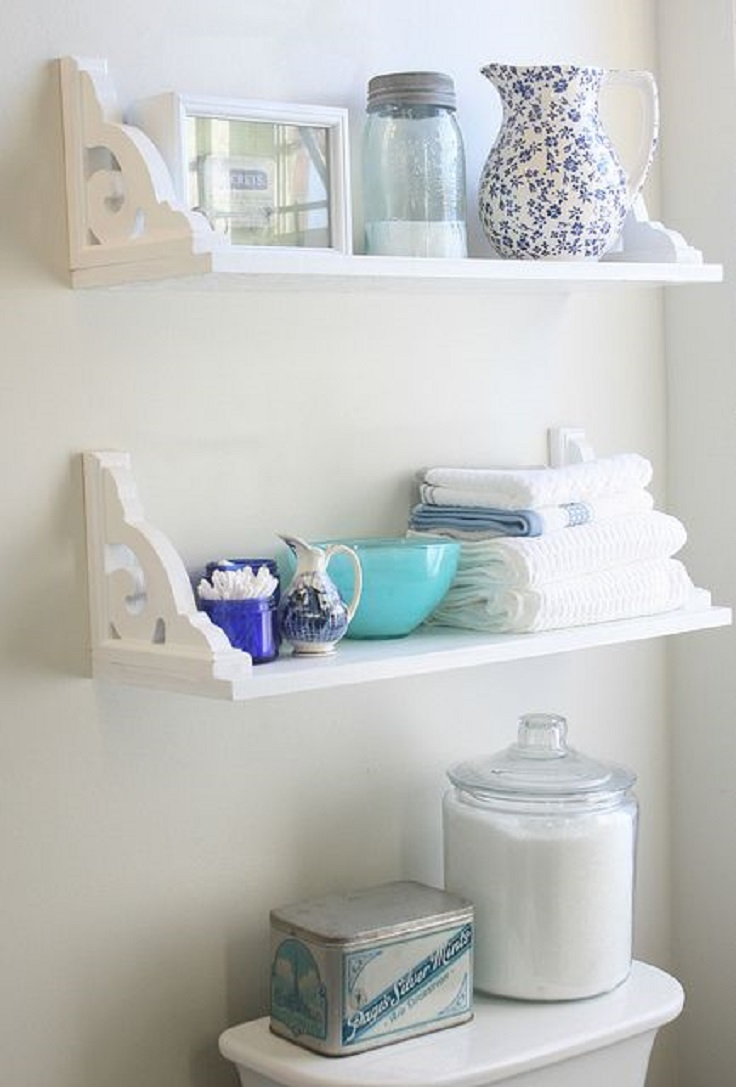 Unique Bathroom Shelving  Home Decor Mags