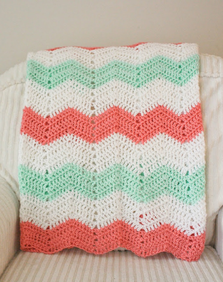Free Pattern Crochet Chevron Baby Blanket : chevron baby blanket crochet pattern Car Tuning