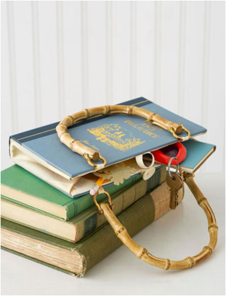 How To Make A Book Bag : Top diy repurposed old books inspired