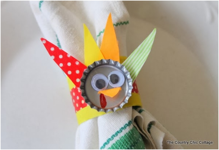Bottle-Cap-Turkey-Napkin-Rings