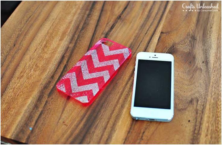 Chevron-Glitter-DIY-iPhone-Case