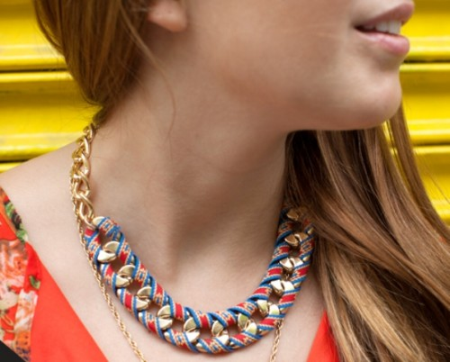Chic-DIY-Ribbon-Wrapped-Chain-Necklace-500x402-1