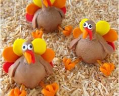 Chocolate Peanut Butter Fudge or Chocolate Caramel Thanksgiving Turkey Treats