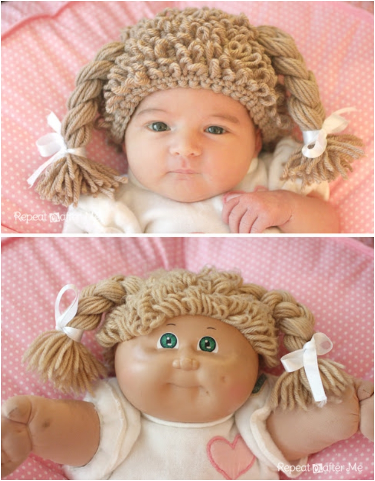 Free Pattern Crochet Cabbage Patch Hat : Top 10 Adorable DIY Crochet Kids Hats - Top Inspired