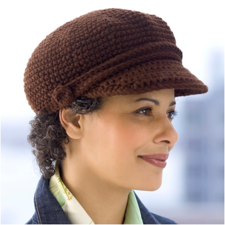 Free Crochet Pattern Newsboy Style Cap : Top 10 Fashionable DIY Hats And Caps (Free Crocheting ...