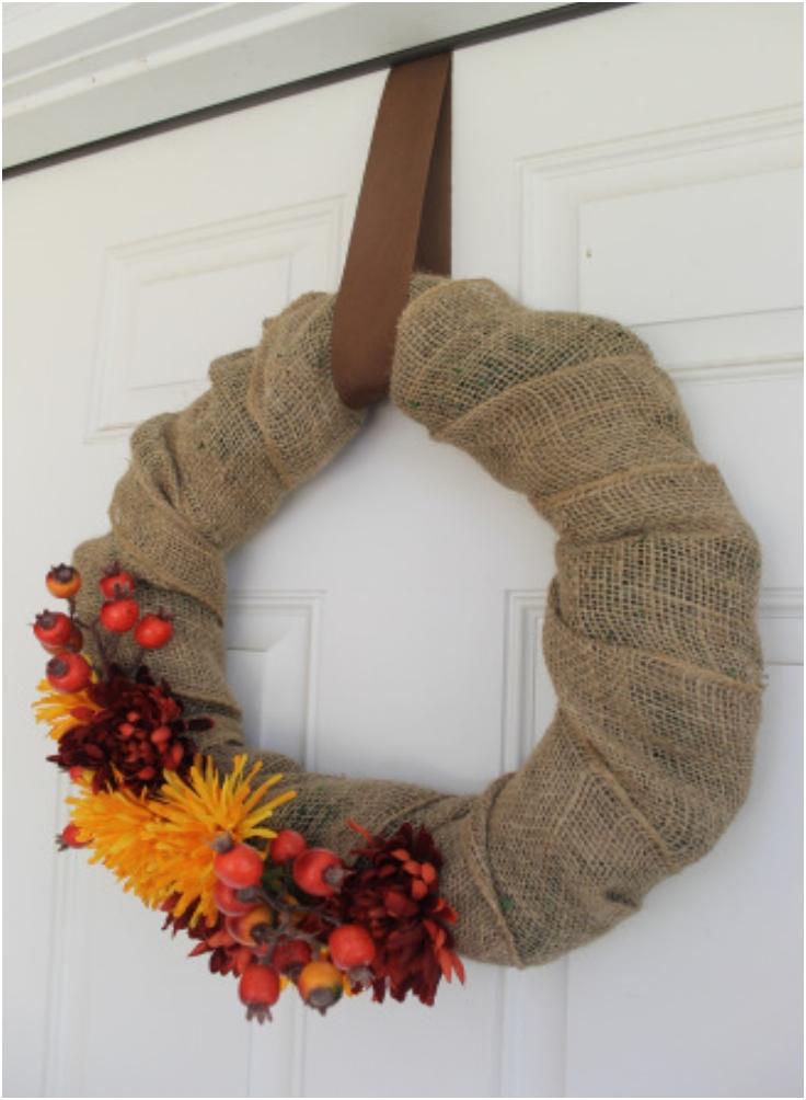 Top 10 Diy Thanksgiving Wreaths Top Inspired