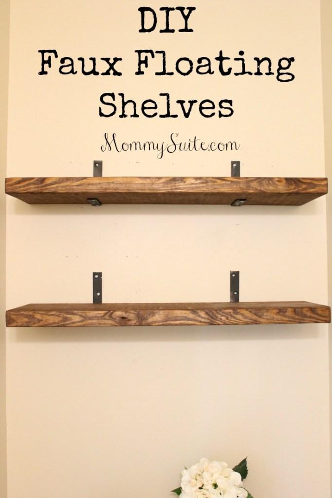 DIY-Faux-Floating-Shelves