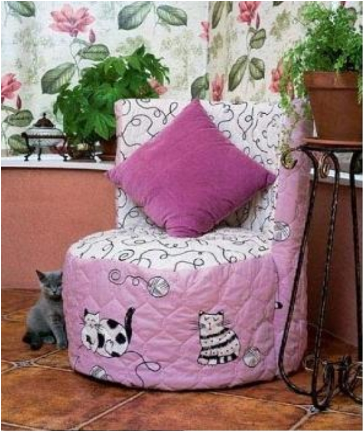 The gallery for how to make cloth handbags for Diy tire chair