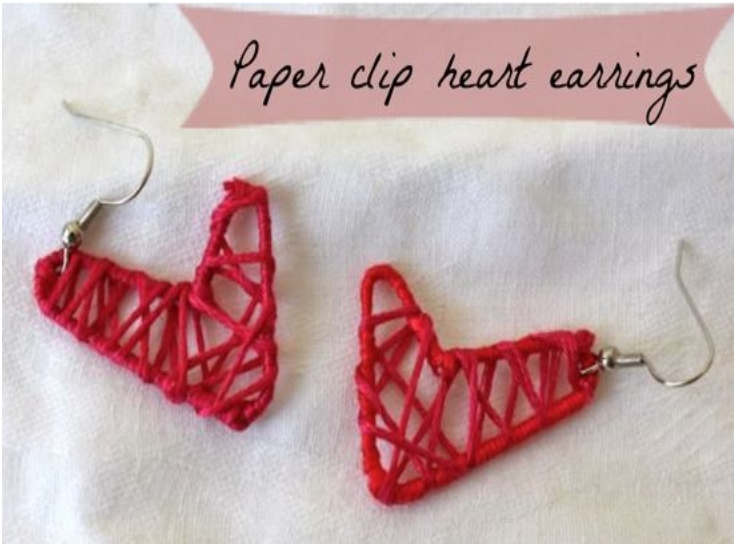 DIY-PAPER-CLIP-HEART-EARRINGS