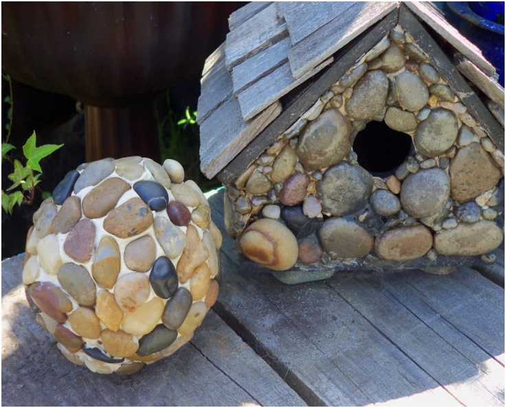 DIY Pebble Garden Balls
