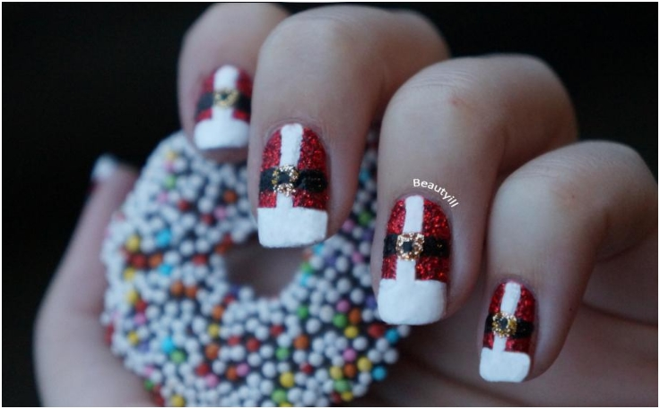 top 10 elegant diy christmas nail art