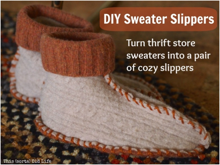 DIY-Sweater-Slippers